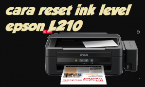 cara reset ink level epson l210