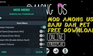 donwload mod among us baju dan pet