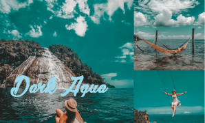 dark aqua lightroom preset